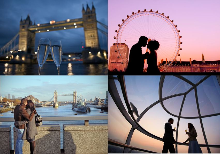 Romantic attractions in london